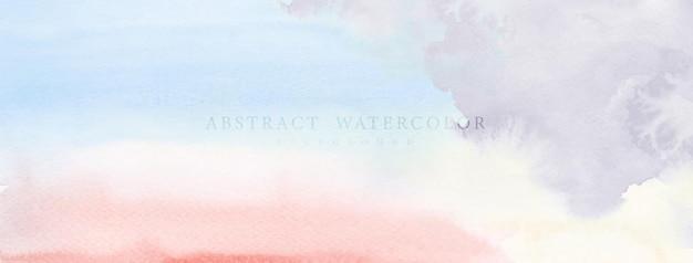 Abstracte aquarel handgeschilderd voor achtergrond. lichte kleur aquarel vlekken vector textuur is ideaal voor element in het decoratieve ontwerp van koptekst, omslag of banner, penseel opgenomen in bestand. Premium Vector