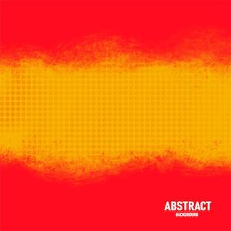 Abstracte aquarel rode achtergrond met halftooneffecten