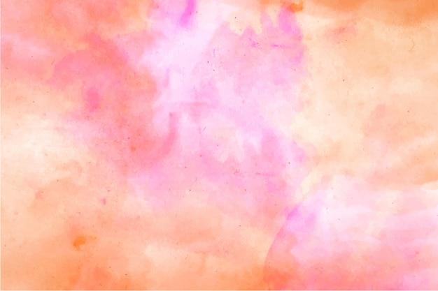 Abstracte aquarel roze en oranje achtergrond
