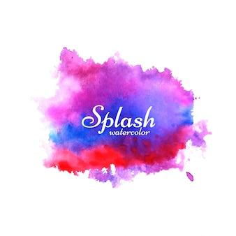 Abstracte aquarel splash ontwerp achtergrond