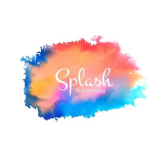 Abstracte aquarel splash ontwerp vector