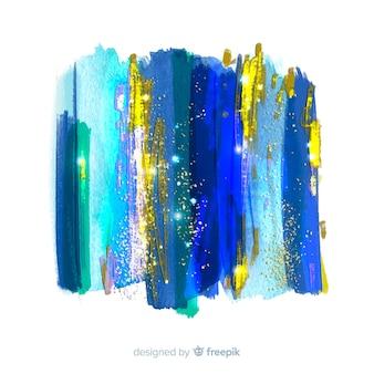 Abstracte aquarel vlekken met glitter achtergrond