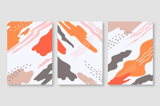 Abstracte aquarel vormen covers set