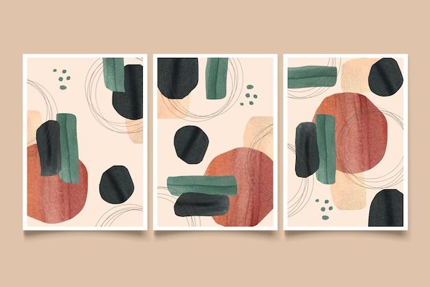 Abstracte aquarel vormen covers