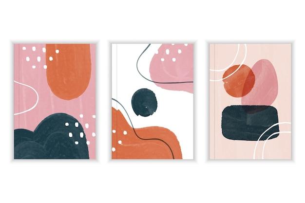 Abstracte aquarel vormen - covers