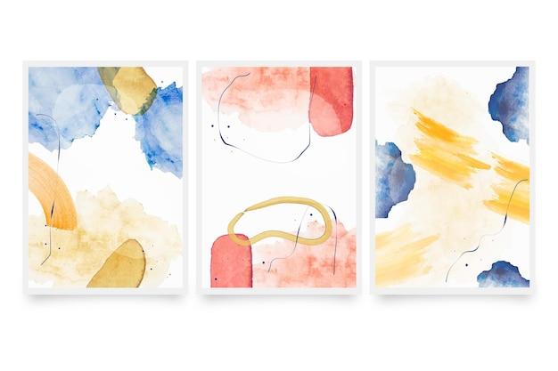 Abstracte aquarel vormen omvat collectie