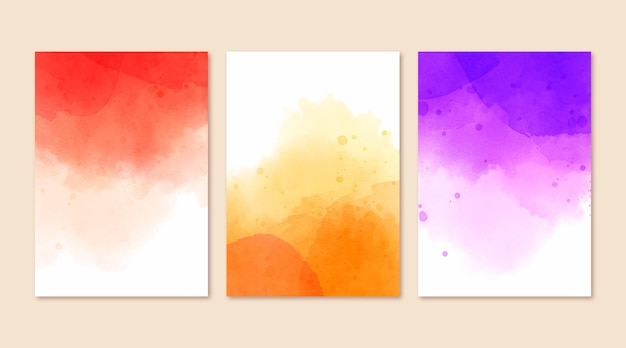 Abstracte aquarelomslagen
