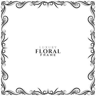 Abstracte artistieke bloemen frame ontwerp achtergrond