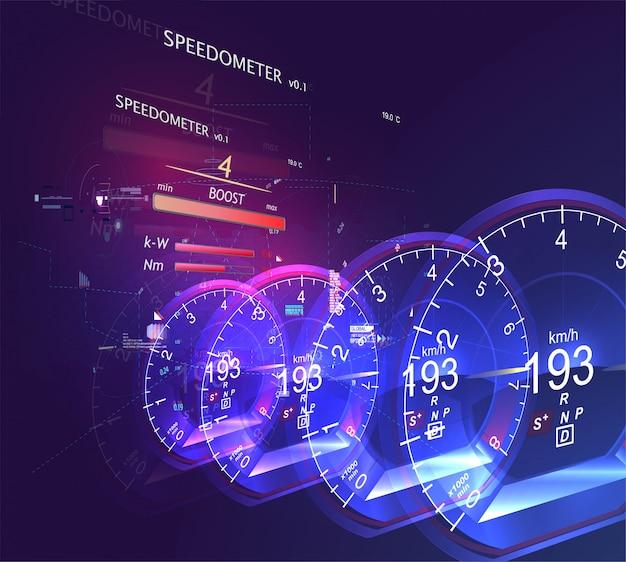 Abstracte autosnelheidsmeter