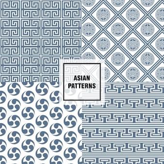 Abstracte aziatische patronen