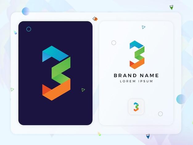 Abstracte b brief logo