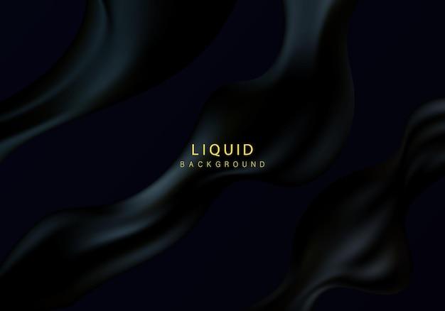Abstracte background.luxurious golvende abstractie. trendy achtergrond met golvend zwart materiaal.
