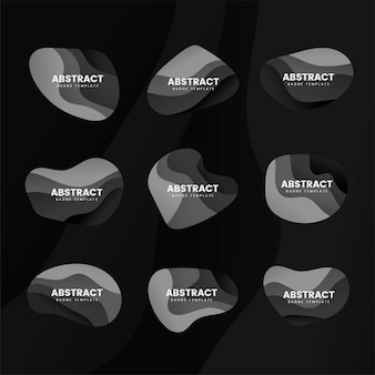 Abstracte badge ontwerp vector set
