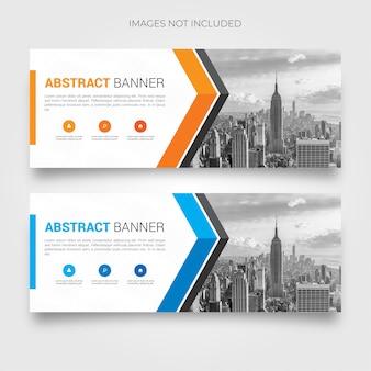 Abstracte banner collectie met moderne vormen