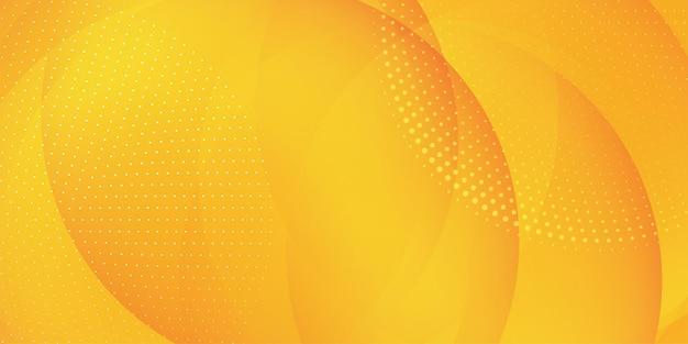 Abstracte banner met een gradiëntcirkel en halftoonpuntenontwerp