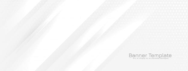Abstracte banner met glanzende golvende lijnen vector
