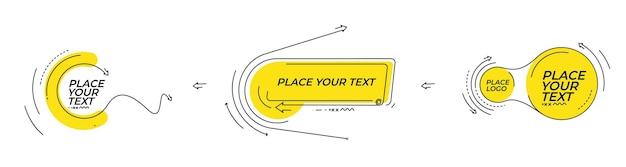 Abstracte banner met portfolio calligraphic line art tekstposter met ruimte voor uw tekst