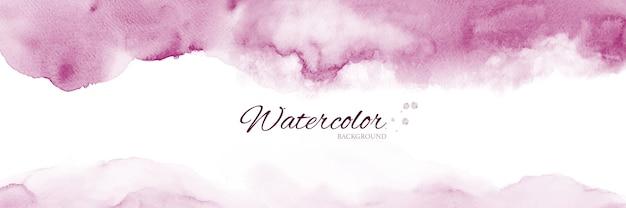 Abstracte banner met roze aquarel vlekken.