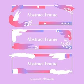 Abstracte banner set
