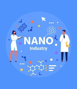 Abstracte banner voor nano-industrie presentatie