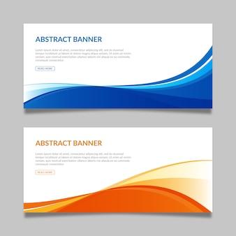 Abstracte bannermalplaatjes