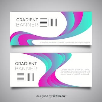 Abstracte banners met gradiëntontwerp