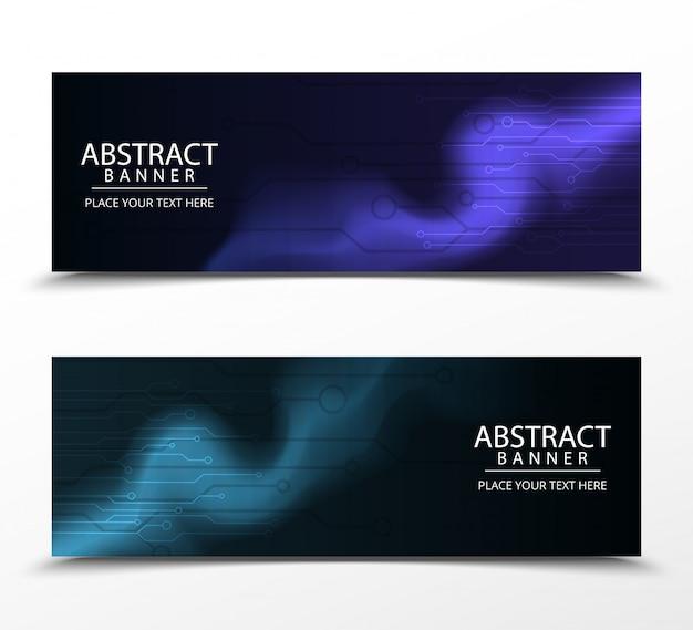 Abstracte banners met heldere geometrische ontwerpsjablonen