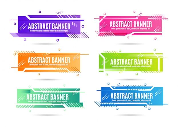 Abstracte banners ondertekenen