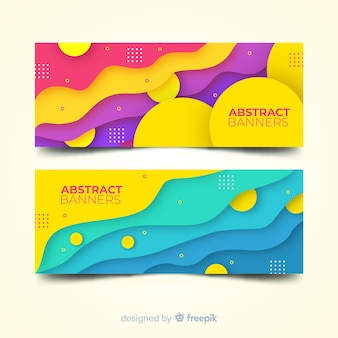 Abstracte banners