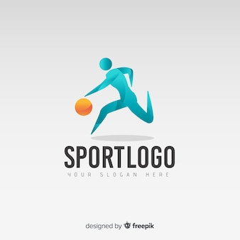 Abstracte basketbal logo of logo sjabloon