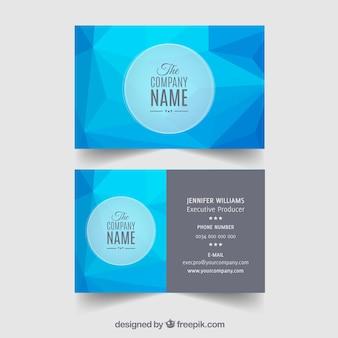Abstracte bedrijfs blauwe kaart
