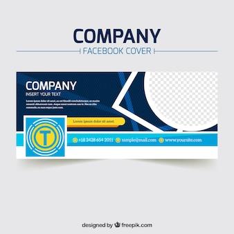 Abstracte bedrijfs facebook cover