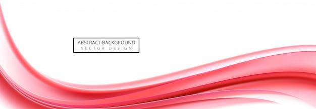 Abstracte bedrijfs rode golfbanner