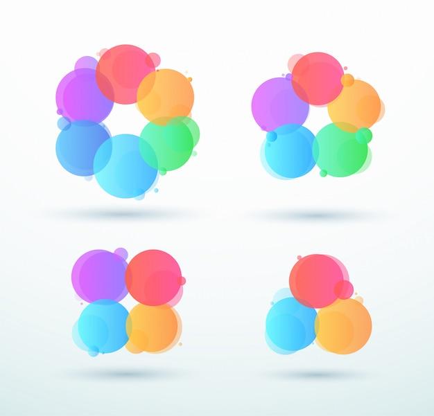 Abstracte bedrijfs verbonden cirkel ronde cycli set