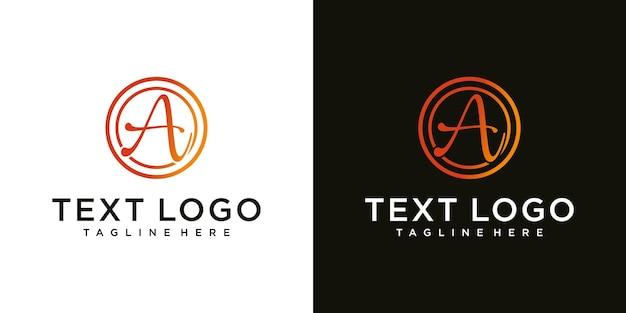 Abstracte beginletter een logo ontwerp sjabloon technologie iconen voor zaken van luxe