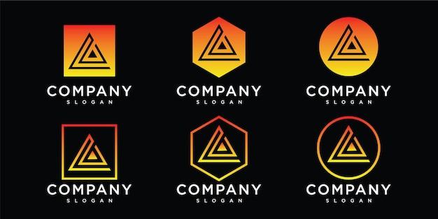 Abstracte beginletter een logo-sjabloon