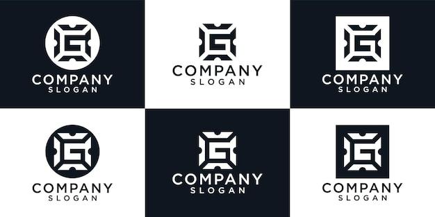 Abstracte beginletter logo ontwerpsjabloon