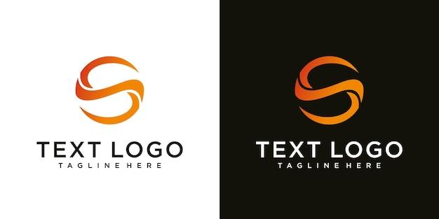 Abstracte beginletter s logo ontwerpsjabloontechnologie pictogrammen voor zaken van luxe gradiënt