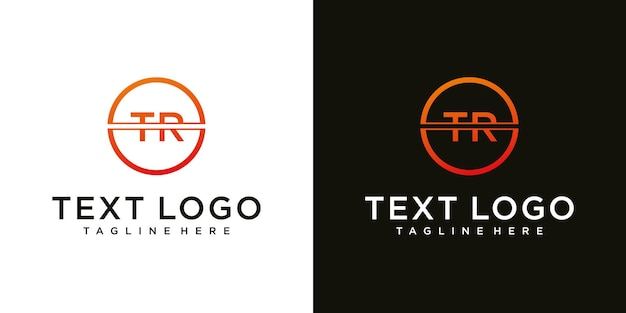 Abstracte beginletter tr tr minimale logo ontwerpsjabloon