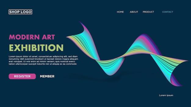 Abstracte bestemmingspagina voor website