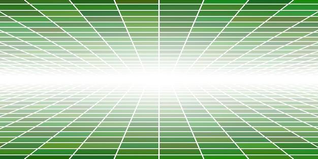 Abstracte betegelde achtergrond met perspectief in groene kleuren