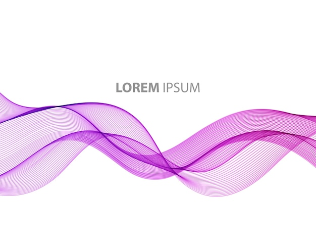 Abstracte beweging vlotte kleurengolf. curve paarse lijnen