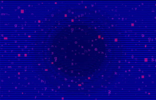 Abstracte binaire code blauw bg. cyberspace en netwerkconcept.