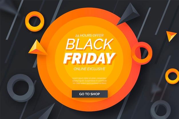 Abstracte black friday-banner met moderne vormen