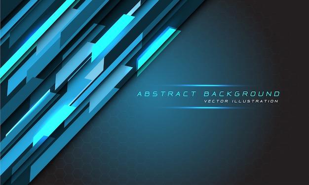 Abstracte blauw licht hi-tech technologie veelhoek zeshoek mesh futuristische achtergrond.