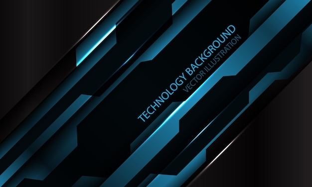 Abstracte blauw zwart metallic cyber futuristische schuine streep banner ontwerp moderne technische achtergrond