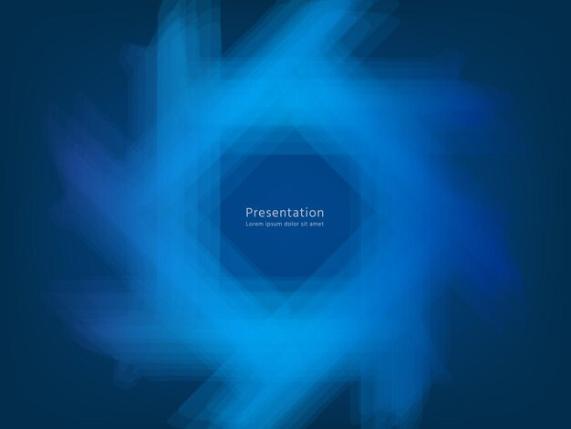 Abstracte blauwe achtergrond, gradiënt licht vector business technologie concept futuristische webachtergronden websjabloon met tekst ruimte. trendy presentatie stijlvolle lay-out met energiegloed geometrische vormen.