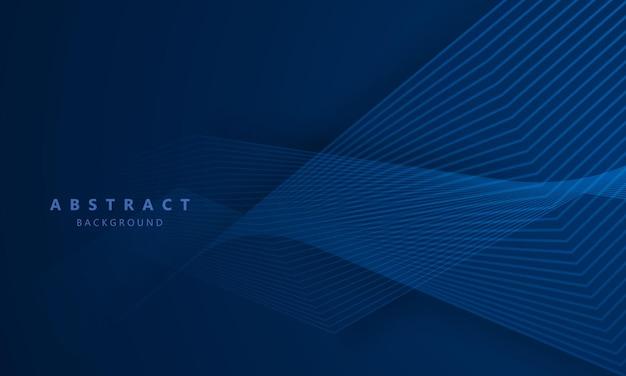 Abstracte blauwe achtergrond met dynamische golven