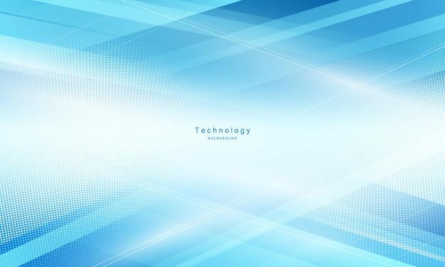Abstracte blauwe achtergrond. technologie netwerk illustratie. Premium Vector