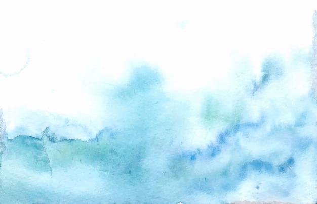 Abstracte blauwe aquarel achtergrondstructuur